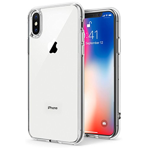 TENOC Case Compatible with Apple iPhone X/10 iPhone Xs, Crystal Clear Soft TPU Cover Full Protective Bumper (Case Silicone Skin Clear Silicon)