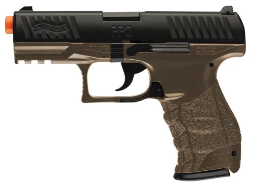 Walther PPQ Spring Airsoft Pistol, Dark Earth Brown