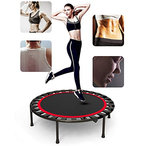 Trampoline for Adults, with an Adjustable Handle bar Indoor rebounder, Foldable Round Mini Bouncer Safe and Silent Maximum Load 500 lbs