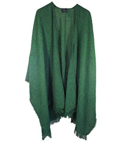 Wool Ruana Shawl Kerry Woollen Mills Kelly Green Irish Made by Kerry Woollen Mills