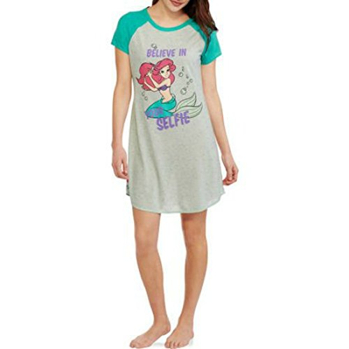 Ursula Little Mermaid Costume (Disney Ariel The Little Mermaid Women's Confetti Print Scoop Neck Sleep Shirt (L/XL (14-18)))