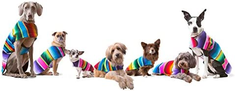 Handmade Dog Poncho from Mexican Serape Blanket - Dog Clothes - Coat - Costume - Sweater - Vest 51