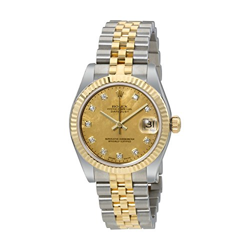 Rolex Oyster Perpetual Datejust 18 Carat Yellow Gold Jubilee Automatic Ladies Watch 178273GDDJ