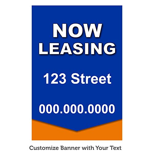 HALF PRICE BANNERS | Custom Business Vinyl Banner | Personalize with Your Text | Mesh Wind Resistant | 5'x3' Color Block | Free Ball Bungees & Zip Tie | Advertising Sign | Various Size | Made in USA
