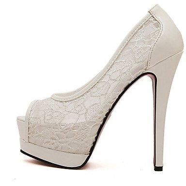 LvYuan Mujer-Tacón Stiletto-Otro-Sandalias-Vestido-Tejido-Negro Blanco Black