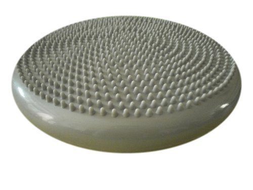 Air Stability Wobble Cushion, Sliver Grey, 35cm/14in Diameter, Balance Disc, Pump Included