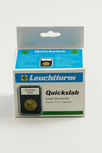 Pack of 5 Lighthouse Quickslab 21mm Graded Coin Slabs US / Canadian Nickel ()