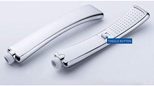 luoshハンドヘルドシャワーヘッド、G1 / 2」長方形のスプリンクラースプレー2つのモードの高圧節水バスルームアクセサリー