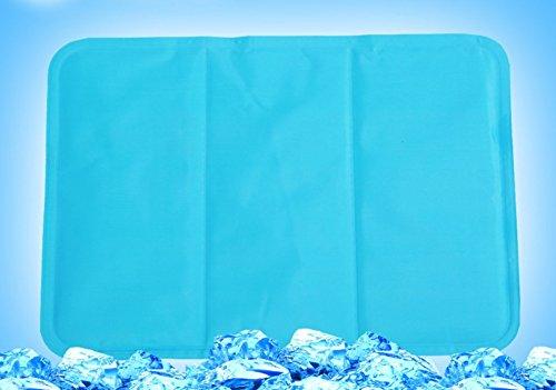 Cooling Mat Summer Ice Pad Sleeping Seats Pets 11.8 x 15.7 Inch Blue