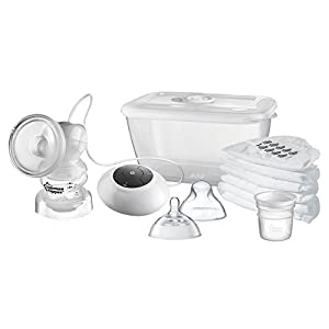 Tommee Tippee Closer to Nature Electric Breast Pump, White 41JshB4vd1L