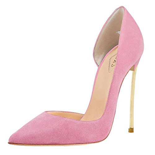 EKS - Punta fina Mujer Pink-Faux Wildleder