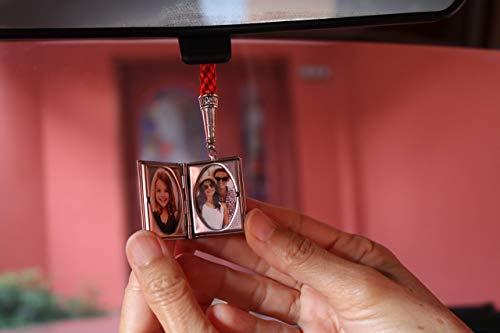 Catholic Car Accessories Saint St Benedict Locket Photo Frame San Benito Proteccion Medal for Rear View Mirror B400PHOTO