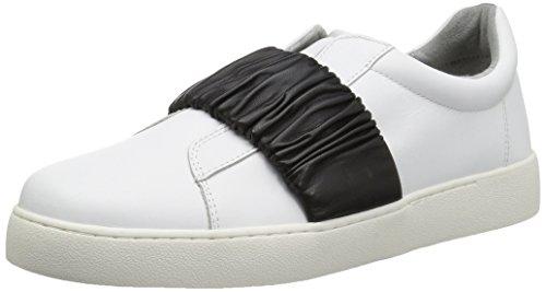 Sneaker In Pelle Pindiviah Nove West Womens In Pelle Bianca / Nera