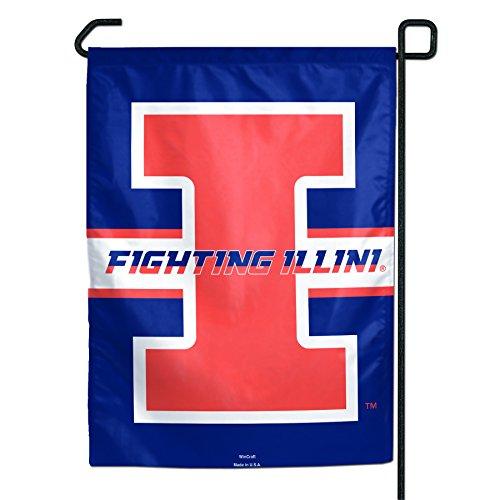 NCAA Illinois Illini Fighting Illini Garden Flag, (Illinois Fighting Illini Tailgate)