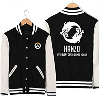 OVERWATCH game pattern fashion baseball jacket single breasted stand collar leisure coat