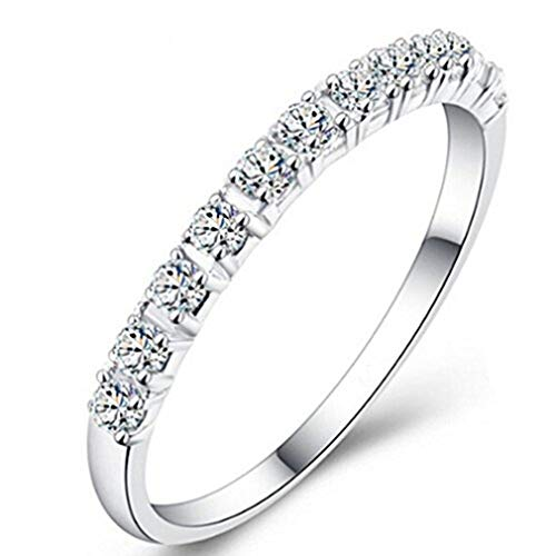 Dolland Round White Simulated Diamond Ring Engagement Wedding Jewelry for Women ,As picture9