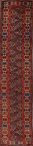 16 ft Long Kazak Antique Traditional Caucasian Russian Oriental Runner Rug Blue (15' 10