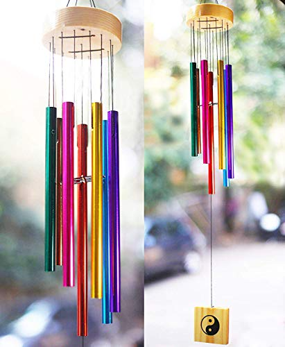 Colorful 7 pipe wind chimes For Home Decor By PARADIGM PICTURES