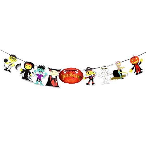 Party Diy Decorations - Halloween Decorating Cartoon Pumpkin Hanging Triangle Flag Banners Pennant Bunting Bar El Ktv - Foot Card Tumblr Stenciles Vinyl Blister Decorated Hotels Tanzania Cushaw ()