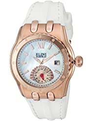 Elini Barokas Womens Genesis Vision Swiss Quartz Stainless Steel and Silicone Watch, Color:White (Model: 20029...