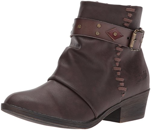 Blowfish Botines de Tobillo para Mujer, Chocolate Saddle Rock/Clay, Chocolate Whiskey, 6.5 M US