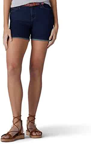 d3bbabe1bef LEE Women s Modern Series Midrise Fit Cora Belted Short