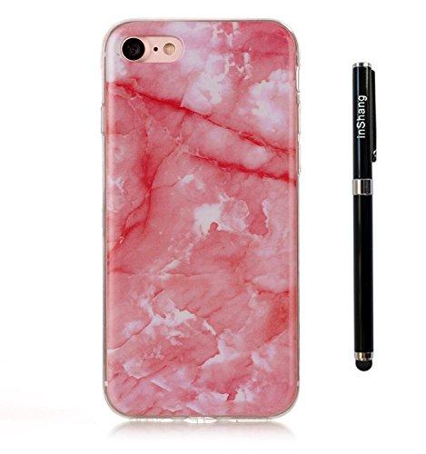 inShang funda para apple 5.5 iPhone 7 Plus funda del teléfono móvil, anti deslizamiento, ultra delgado y ligero, Estuche, Cubierta, carcasa suave hecho en el material de la TPU, cómodo Case Cover for Deep pink