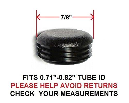 """7/8 INCH ROUND TUBING END CAP PLUG 7/8"""" - QUANTITY OF 8"""