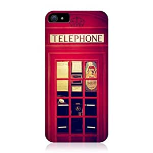 Red Telephone Booth Best Of London Design Snap-on Back Case For Apple iPhone 5