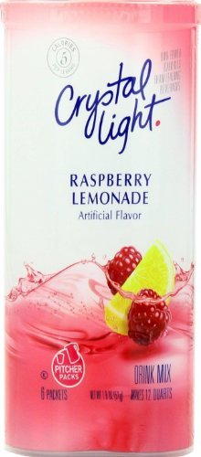 Crystal Light Raspberry Lemonade, 12-Quart 1.8-Ounce Canister (Pack Of 2)