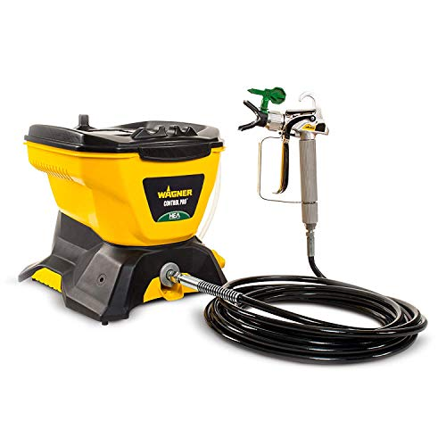Wagner 0580678 Control Pro 130 Power Tank Paint Sprayer, High Efficiency Airless with Low Overspray (Wagner 0518080 Control Spray Max Hvlp Sprayer)