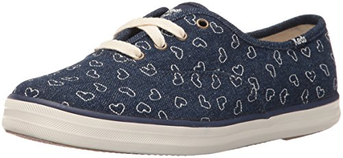 Image of Keds Women's Taylor Swift Denim Heart Embroidery Fashion Sneaker, Cream