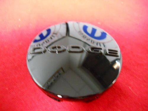 dodge center caps black - 8