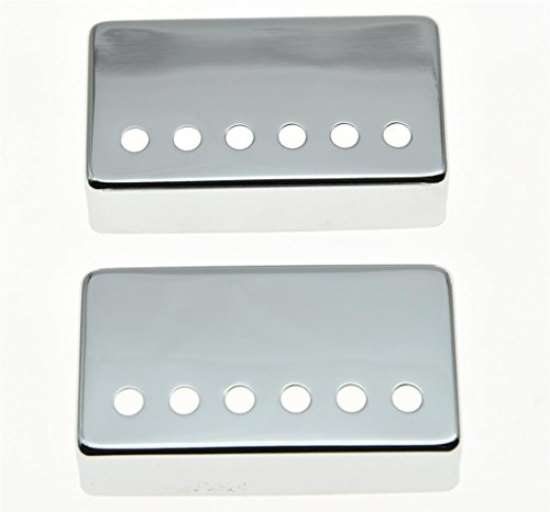 KAISH Chrome LP Humbucker Guitar Pickup Cover 50mm Neck 52mm Bridge fits Les Paul