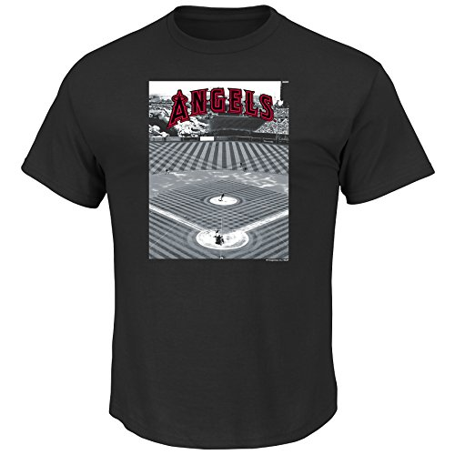 VF LSG MLB Los Angeles Angels Men's A Whole New Game Tee, Large, Black