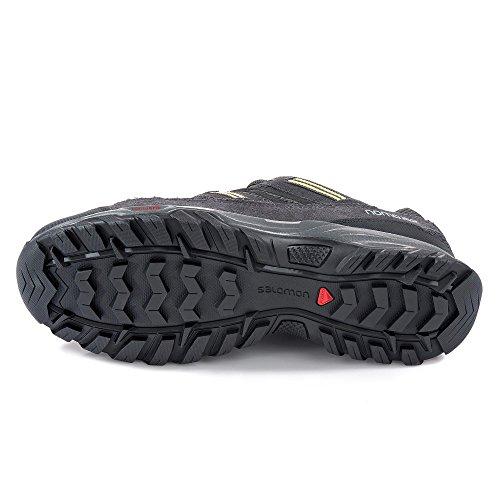 Salomon - Zapatillas de senderismo de Sherbrooke para hombre, color negro, talla 10UK 44 2/3