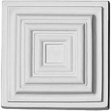 """Ekena Millwork ROS03X03LE W x 4 1/8"""" H x 1 1/4"""" P Leandros Rosette, White"""