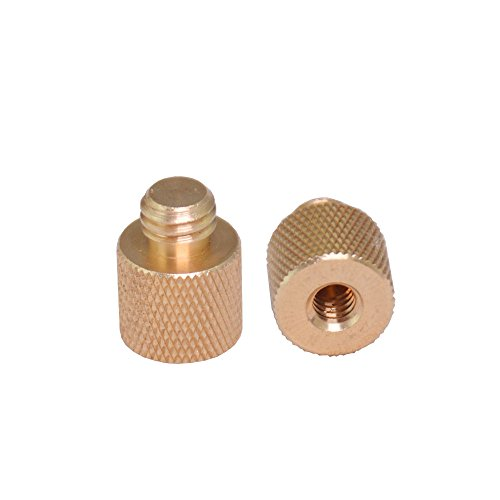 """Bestshoot Standard 3/8""""-16 Male to 1/4""""-20 Female Threaded Tripod Screw Adapter Standard Tripod Mounting Thread Camera Screw Adapter Converter, Precision Made (2 Pack)"""