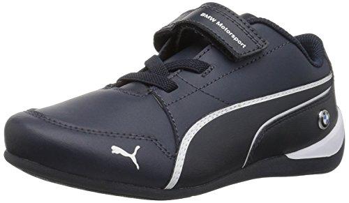 PUMA Kids' BMW MS Drift Cat 7 Velcro Sneaker,Team Blue/Team Blue,11 M US Little Kid ()