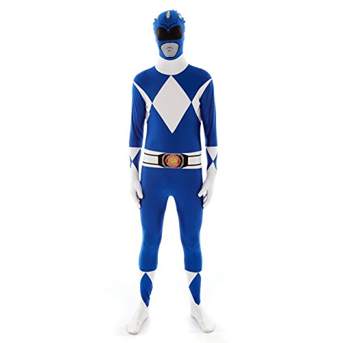 Official Power Ranger Morphsuit Costume,Blue,X-Large 5'10-6'3
