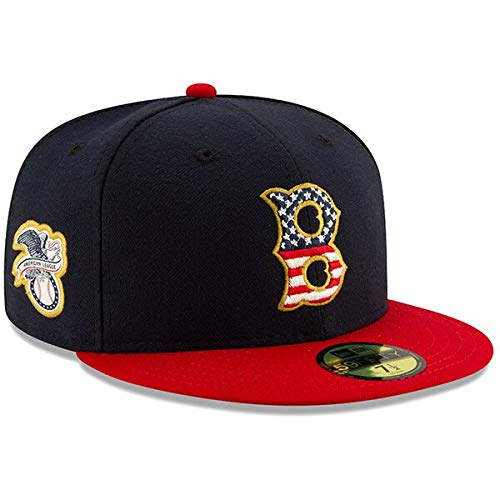 New Era Men's Boston Red Sox Navy/Red 2019 Stars & Stripes 4th of July On-Field 59FIFTY Fitted Hat (7 1/4)