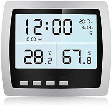 CHenXy ホームエレクトロニクスサーモ湿度計、高精度温湿度計、アラーム時計とバックライト、オフィス、子供ルーム、ベッドルーム、フラワールーム 湿度計温度計 (Color : A)