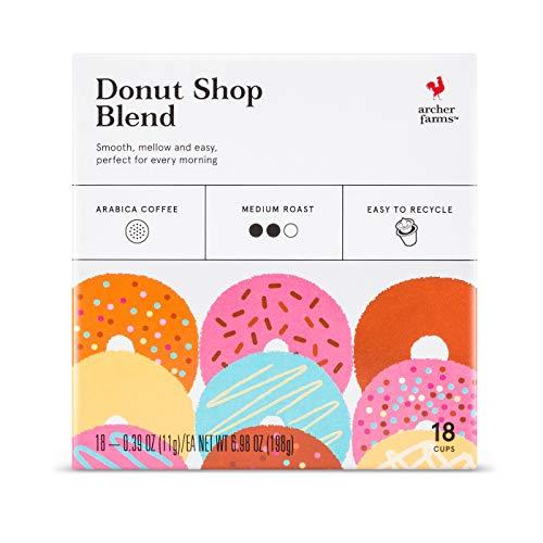 - Archer Farms Donut Shop Blend Medium Roast, 6.98 OZ, 18 K-Cups (One Pack)