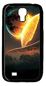 ICORER Customize Your Samsung Galaxy S4 Case Earth And Moon Best PC Black Case for Samsung Galaxy S4