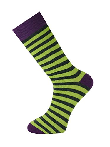 Mysocks Colourful Stripe and Design Ankle Socks Stripe Lime and (Anthracite Apparel)