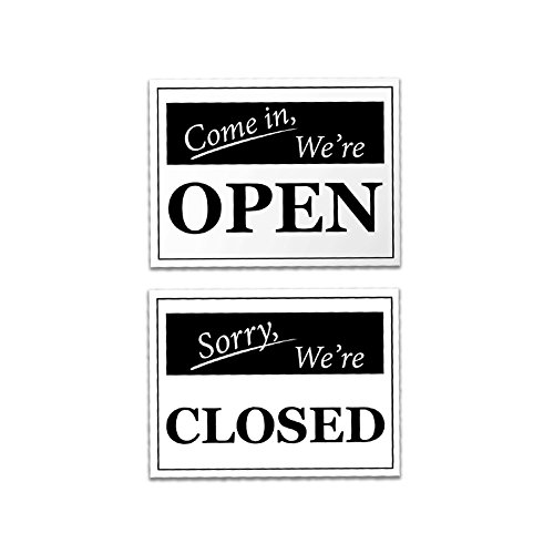 Open Closed Signs   2 Pieces Open Signs 2 Pieces Closed Signs   Rust Free   Clear   Visible Text   Light Tough Long Lasting   Easy To Install Office Signs   Get People To Obey Commands Effortlessly