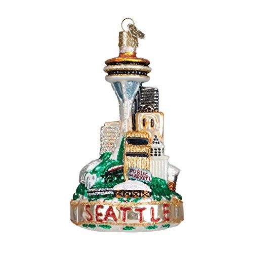 Old World Christmas Seattle Skyline Glass Blown Ornament