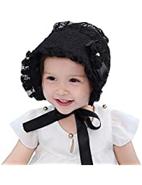 Baby Girls Lace Royal Bonnet for 6-24 Months