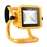 LED Work Light Aglaia 10W Portable Floodlight 800LM Rechargeable 3 Modes Flood Lamp with IP65 Waterproof for Emergency, Repairing, O
