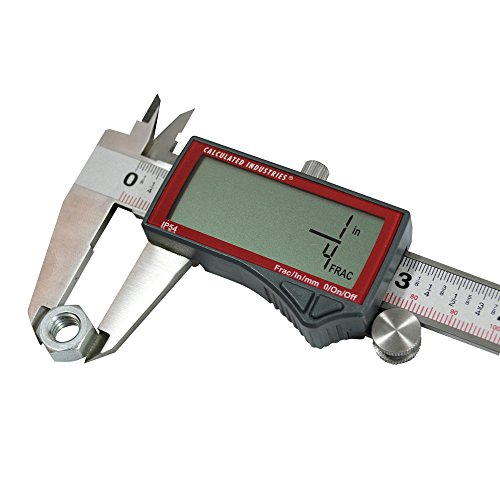 Calculated Industries 7408 AccuMASTER 6-Inch Digital Caliper; Fractional (1/64ths) + Inch + Metric with Largest Display Digits for Woodworkers, Stainless Steel, IP54 by Calculated Industries (Image #4)